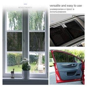 Image 5 - 2 шт ., автомобильные солнцезащитные очки , сетка, Электростатическая наклейка , боковое окно, солнцезащитный козырек, автомобильная интерьерная занавеска , УФ защита, внешние аксессуары