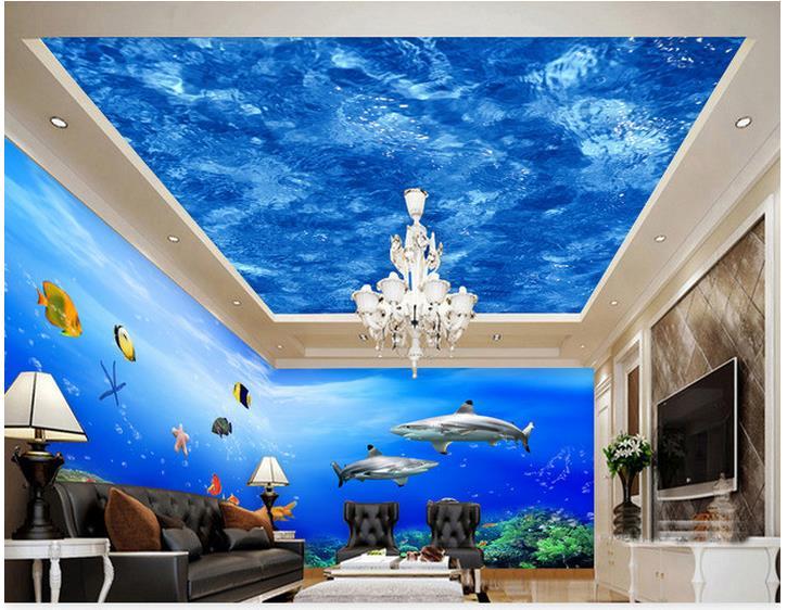 Customized 3d photo wallpaper 3d wall ceiling wallpaper murals 3 d ...