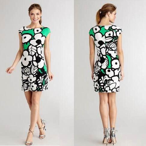 peony printing short sleeve italian brand ladies fashion