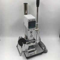 110V Hot Foil Stamping Machine Leather 8 10CM PU PVC Wood Bronzing Printing LOGO Branding Machine