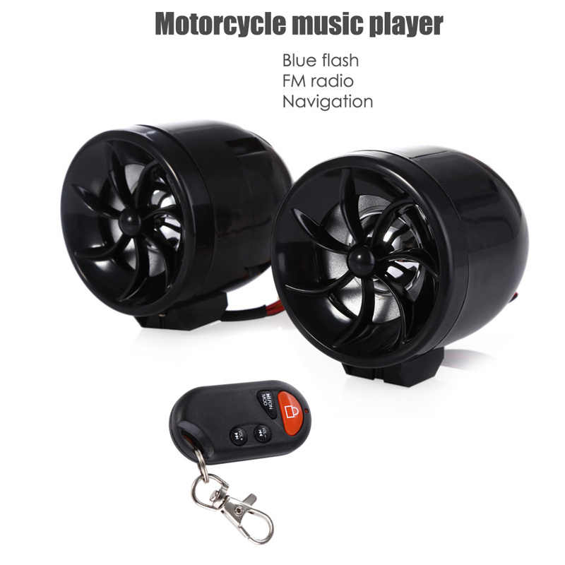 MT483 Motorcycle Music Audio Sound Player MP3 Speaker Anti-theft Alarm Support FM USB SD AUX Navigation with Voice Prompts