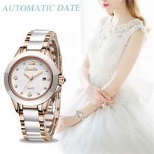 Sunkta 2019 topo de luxo da marca feminina rosa ouro relógios senhoras relógio ultra fino moda boutique menina assistir senhoras assistir