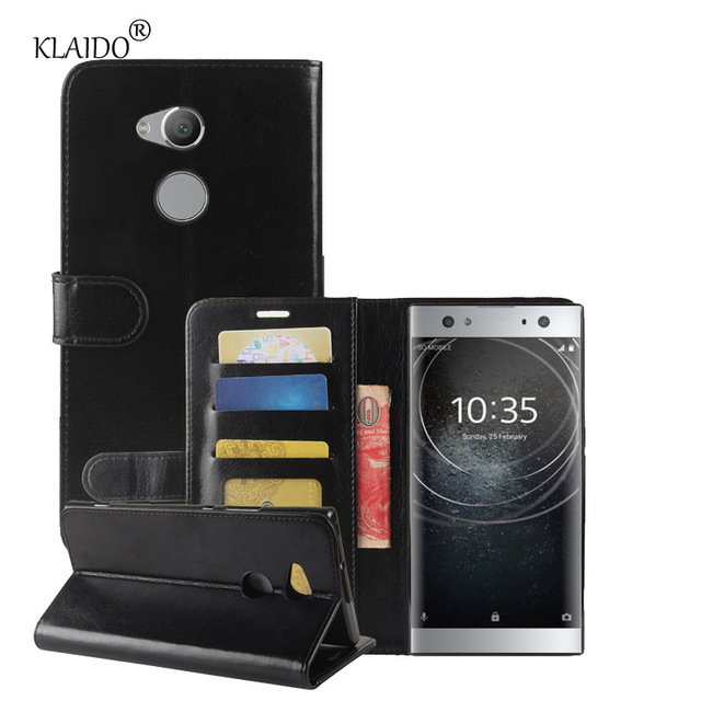 100% authentic 75a2b f7a21 US $3.98 |Wallet Leather case for Sony Xperia XA2 Ultra book style Phone  Case For Xperia XA2 Ultra Cover mobile phone shell KLAIDO Brand-in Wallet  ...