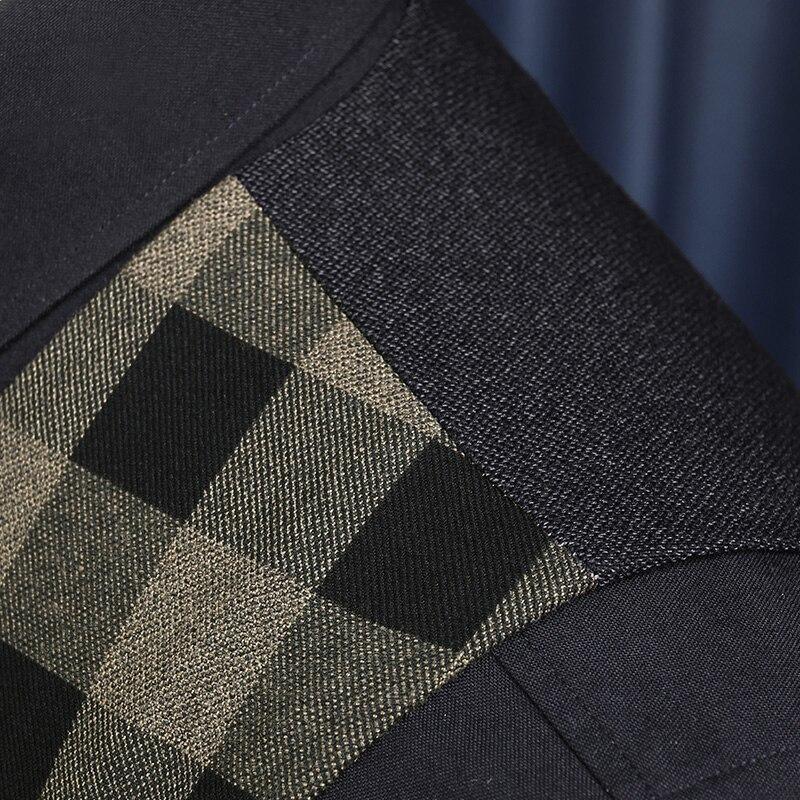 Распродажа высокого качества новые осенние мужские ретро v-образным вырезом Тонкие клетчатые деловые костюмные жилеты Большая скидка желтый черный жилет