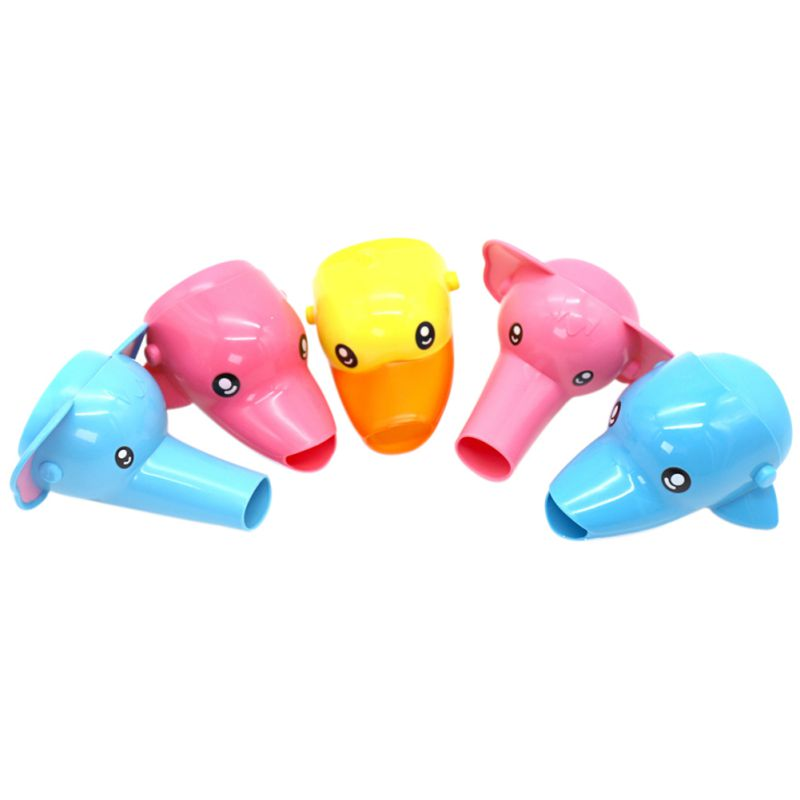 1 pc Happy Fun Animals Faucet Extender Baby Tubs Kids Hand W