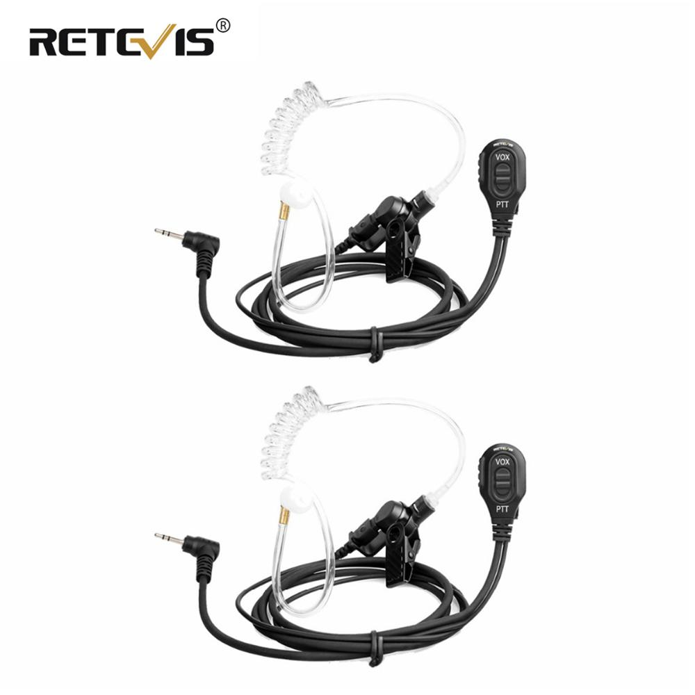 2pcs One-Pin 2.5mm Air Acoustic Tube Earpiece VOX Walkie Talkie Headset For Motorola TLKR T270/T50 T3 For HYT TC320 RETEVIS RT45