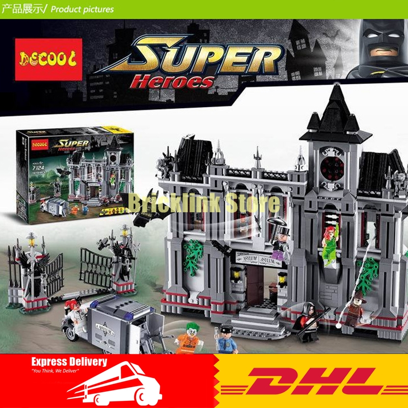 DHL Decool 7124 1619 pcs Super Heroes series the Batman Arkham Asylum Breakout Brick model building blocks compatible 10937 водолазка amy vermont klingel цвет черный