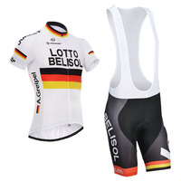 2017 Lotto Team Cycling Jersey Mens BICYCLING Maillot Culotte Suit Bibs Shorts Set Breathable Ropa Ciclismo