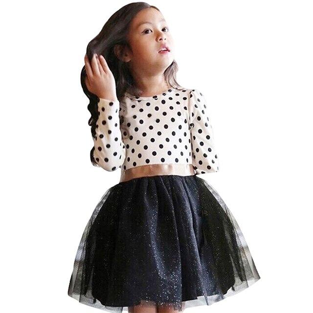 2550b39aefc6b Enfant en bas âge fille manches longues robe automne hiver vêtements  enfants robes princesse filles vêtements