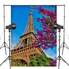 150x220cm Paris Eiffel Tower Photo Background Architectural Landscape Backdrop Studio Photography