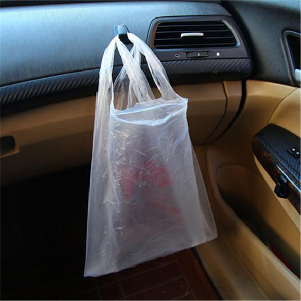 Hang plastic bag with 3 Pcs Mini Car Hook Hanger