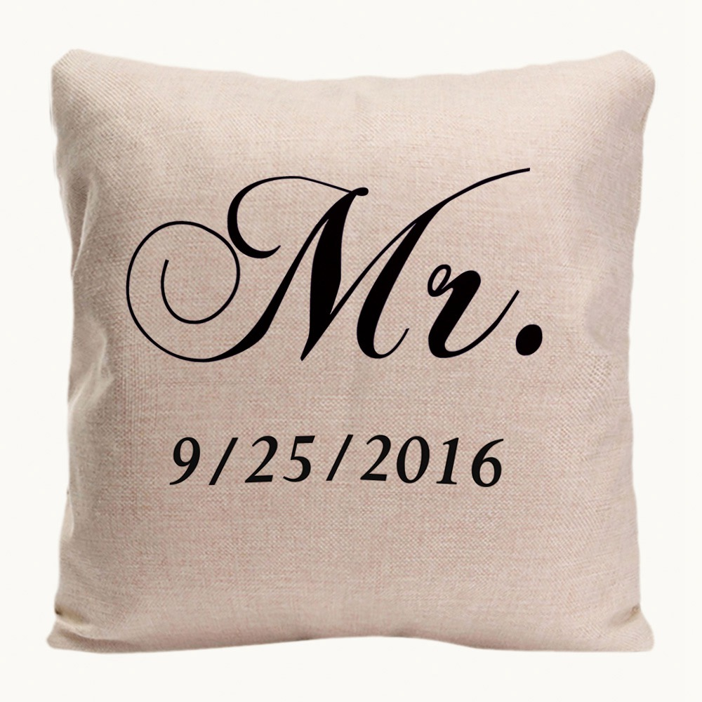 Mr. Right Mrs. Always Right Cushion Cover Home Decorative Pillow Case - Home Textile - Photo 2