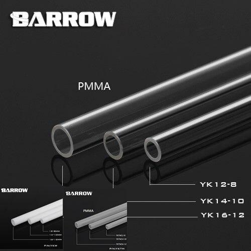 Barrow PMMA di Alta qualità 500mm 8*12mm/10*14mm/12*16mm tubo di raffreddamento ad acqua/tubo sistema di raffreddamento ad acqua uso.
