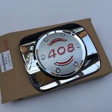 ABS chrome plastic fuel tank cover fit for peugeot 408 plating protective cap decorative trim