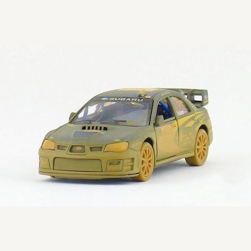 Children Kids Subaru Impreza WRC Muddy Model Car 5inch Diecast Metal Alloy Cars Toy Pull Back Gift