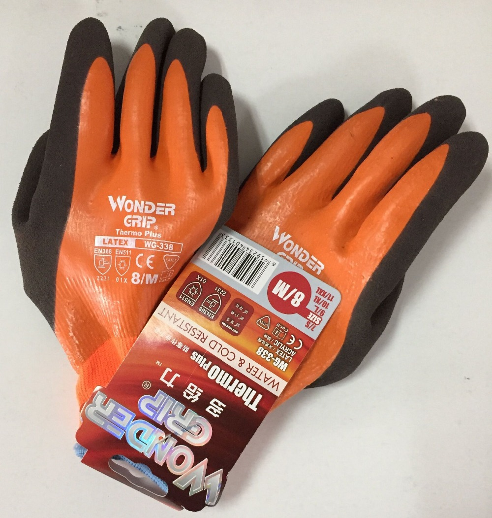 Image 2 - Wonder Grip Safety Gloves Safety Glove Fully Immersed Water Proof Gloves Cold proof Waterproof Winter Work Gloves-in Safety Gloves from Security & Protection