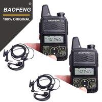 100 2pcs BAOFENG BF T1 MINI Kids Walkie Talkie UHF Portable Two Way Radio FM Function