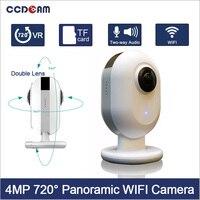 Ccdcam Бесплатная доставка 4mp 720 градусов Панорама Камера Wi Fi 8 P рыбий ультра Двойной объектив 220d угол панорамный VR видео CAM.
