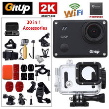 Gitup Git2P WiFi 2K 1080P Full  170 diploma HD Video Skilled HDMI USB Waterproof Motion Sports activities Digicam 30Pcs Equipment