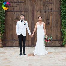 Белые Свадебные Мужские костюмы смокинги одежда для жениха 3