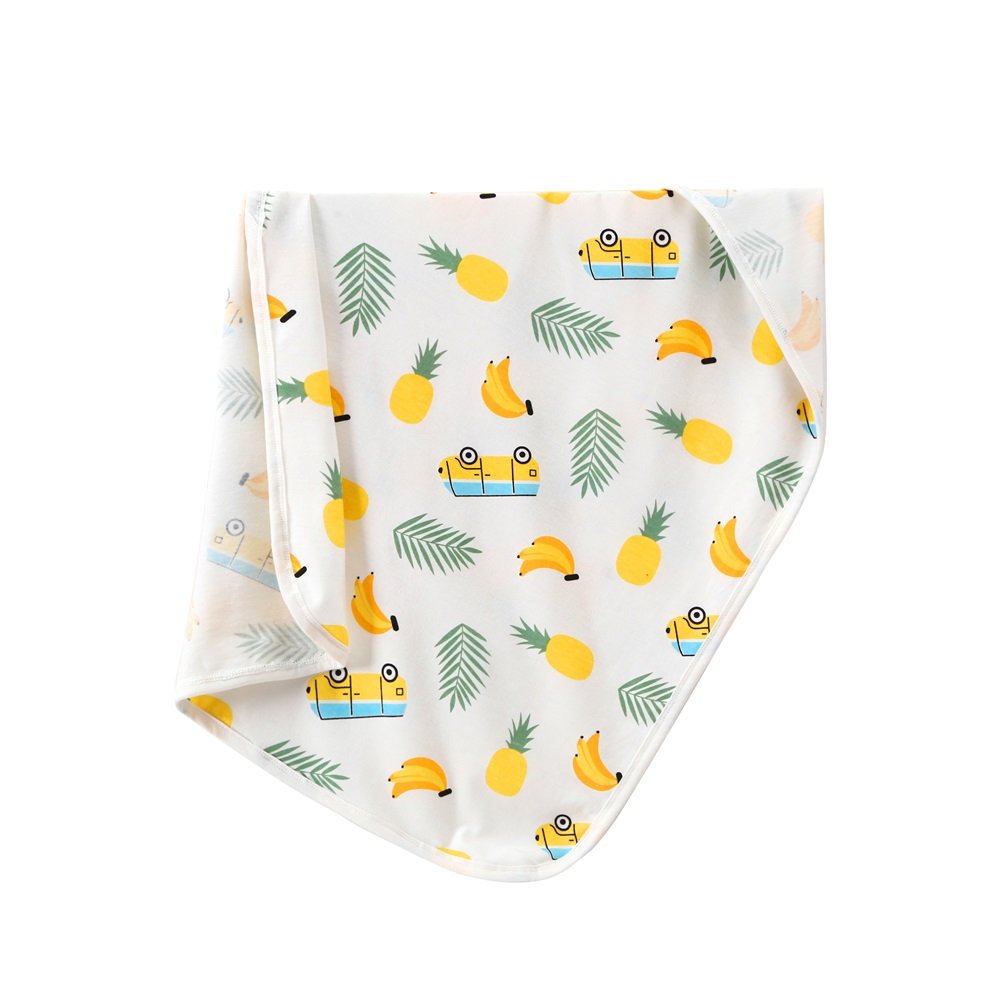 New Newborn Baby Bed Sheet Bedding Set 55x75cm for Newborn Crib Sheets Cot Linen 100% Cotton Banana Printing Baby Blanket