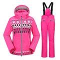 Marca de calidad superior de Las Mujeres de esquí traje chaqueta de esquí al aire libre profesional escalada senderismo traje de esquí de invierno de mujer de MARCA de esquí de la muchacha traje