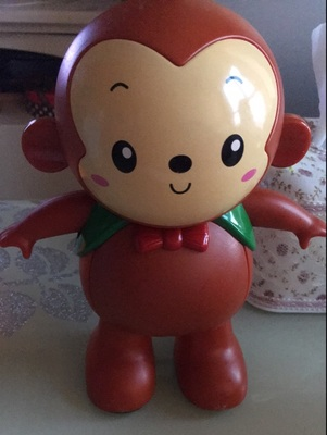 walking dancing lovely swing monkey light sound eletric action figure toy one pcs