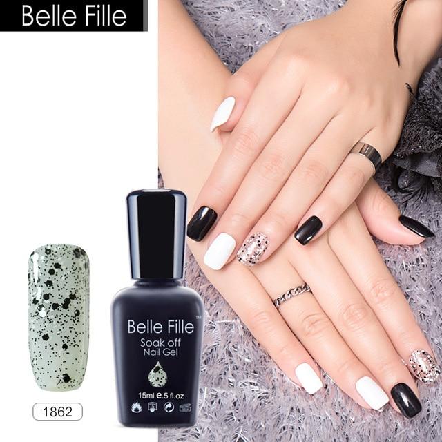 Belle Fille 15ml Color UV Gel Nail Polish Nude Shining Gels UV Lamp ...