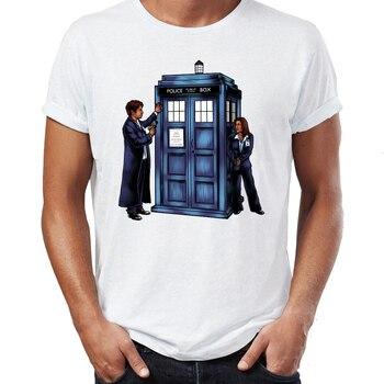 ce07b5d8b Hombres camiseta Archivos X Mulder y Scully Tardis Doctor que Mashup  extranjeros No divertido Badass camiseta Cool camisetas Tops Harajuku  streetwear