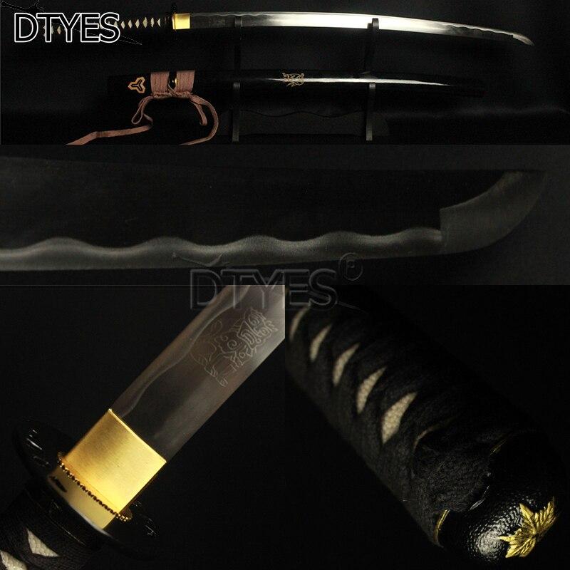 Film Kill Bill Marié Épée de Katana À La Main Pleine Saveur Haute En Acier Au Carbone Avec Motif Gravé Forte Soutien Personnalisé