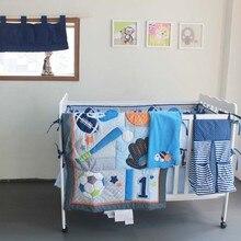 baby boy preferred crib bedding set boys sports style bedding set 10pcsset cotton quilt bumper diaper bag blanket