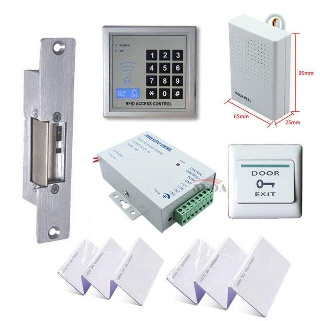 RFID Access Control System Kit Set + Strike Door Lock + ID Card Keytab + Power + Exit ButtonRFID Access Control System Kit Set + Strike Door Lock + ID Card Keytab + Power + Exit Button