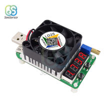 LD25 LD35 USB electrónico resistencia de carga Led Digital voltímetro amperímetro de control de batería de corriente ajustable medidor de voltaje 25W