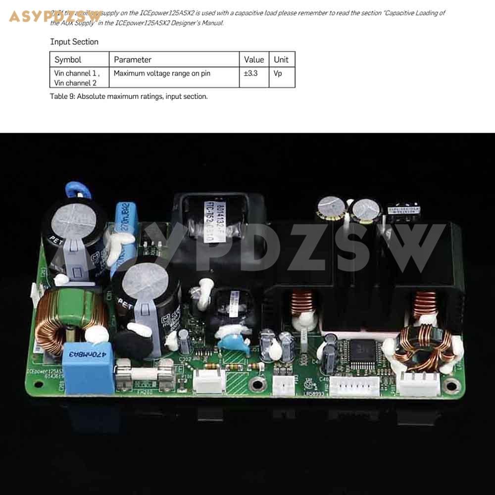 ICE125ASX2 דיגיטלי מגבר כוח לוח 250ASX2 מגבר מודול לוח 2*125 W