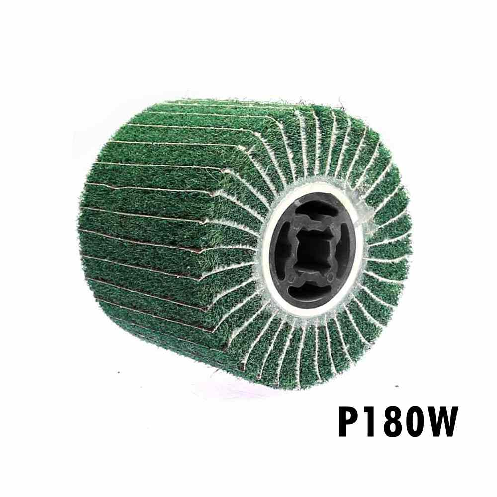 100mm Wool Striping Wheel Drum Burnishing Polishing Grinding Repairing Scratch