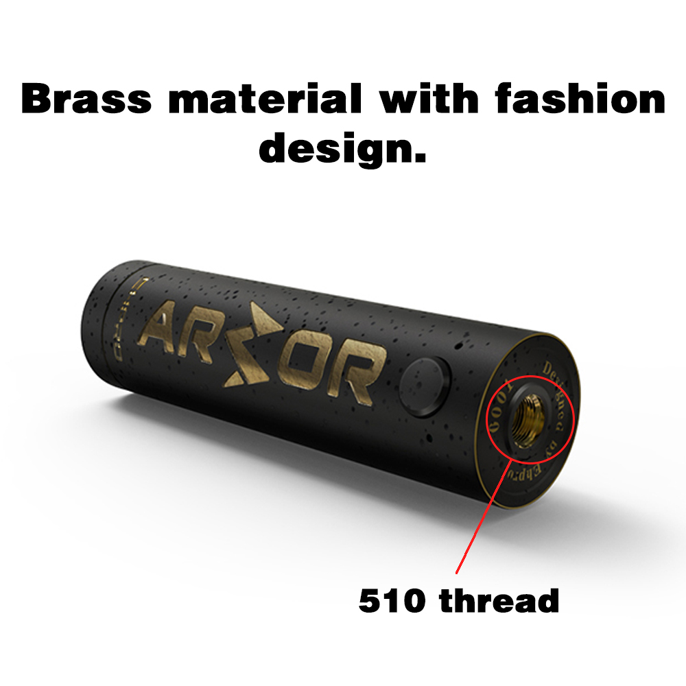 Ehpro Armor Prime Mechanical Mod Black Color 510 Thread 21700 20700 18650 Battery Electronic Cigarette Vape Mech Mod Brass