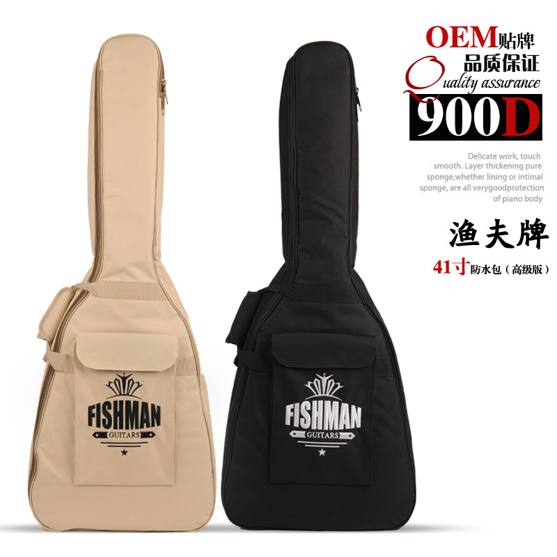 Beige/Black High Quality 41 Acoustic Guitar Bag 900D Nylon Oxford 15mm Extra Thick Double Straps Soft Case Free Shipping astraca deluxe brown black 40 41 acoustic guitar bag 600d nylon oxford guitar soft case gig bag 10mm thicken