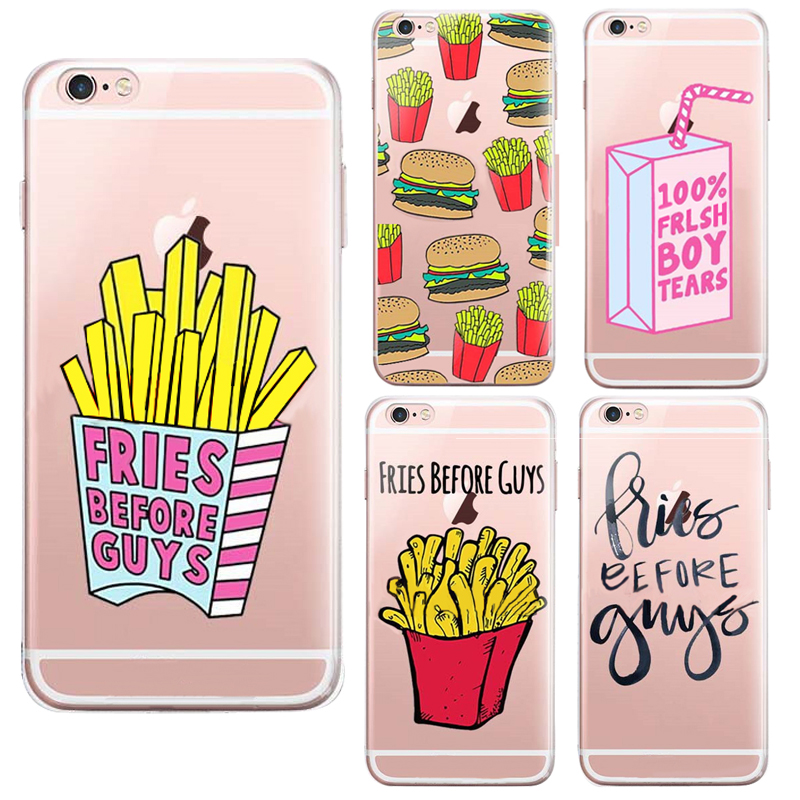 Cute Hamburger Wallpaper Eat Food Fries Before Guys Back Design Cases Cover Phone