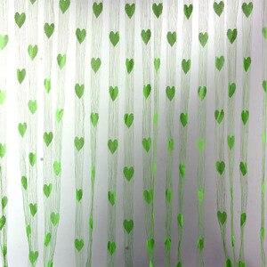 2018 креативная Новинка Декор в виде сердца оконная комната линия занавеска с кисточками разделитель занавесок для двери