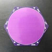 Kossel Rostock 3D printer 180MM PCB delta hot bed Purple 12V with 100K thermistor