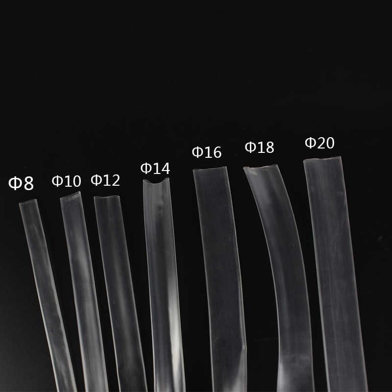 1 mètre 2:1 8MM 10MM 12MM 14MM 16MM 18MM 20MM Transparent Thermorétractable Tube Thermorétractable Enveloppe Gainante kits De Câbles