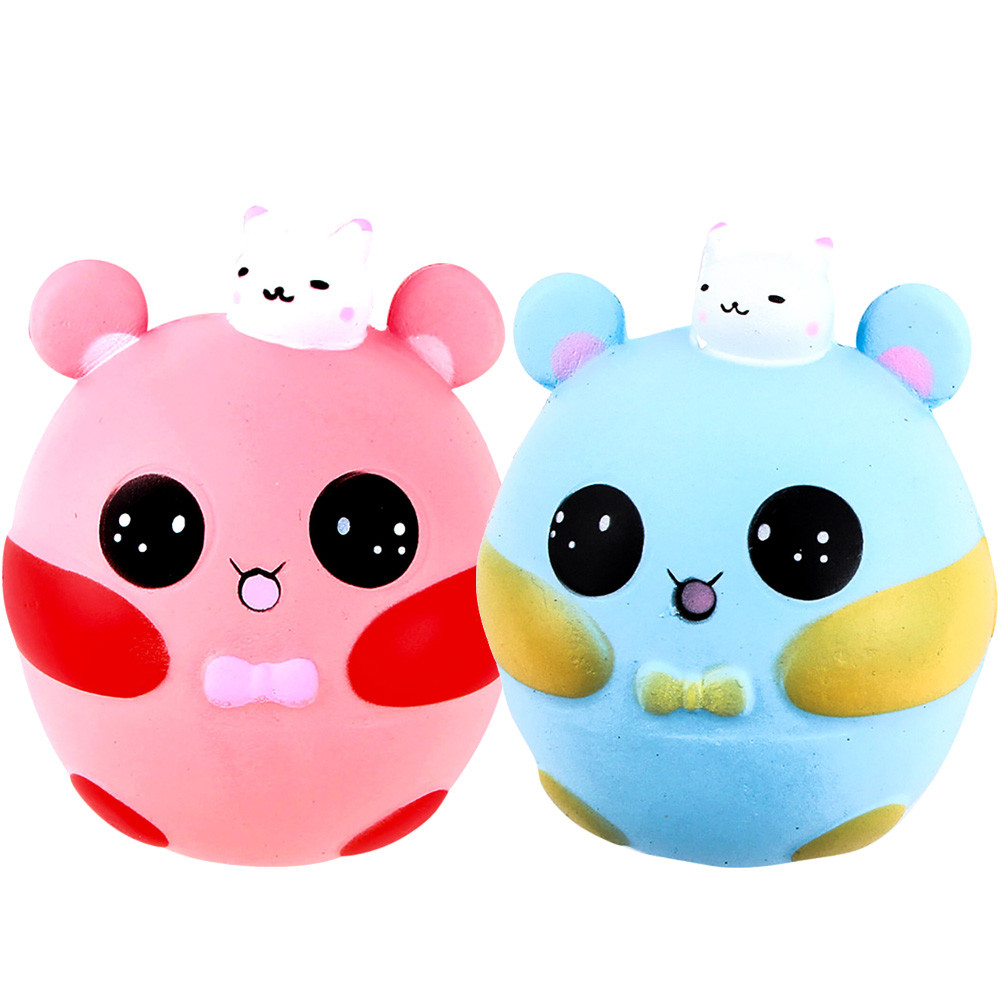 Soft Squishy Squishi Cartoon Cute Pink Scented Cream Slow Rising Squeeze Stress Reliever Toy Stress Reliever Decompression