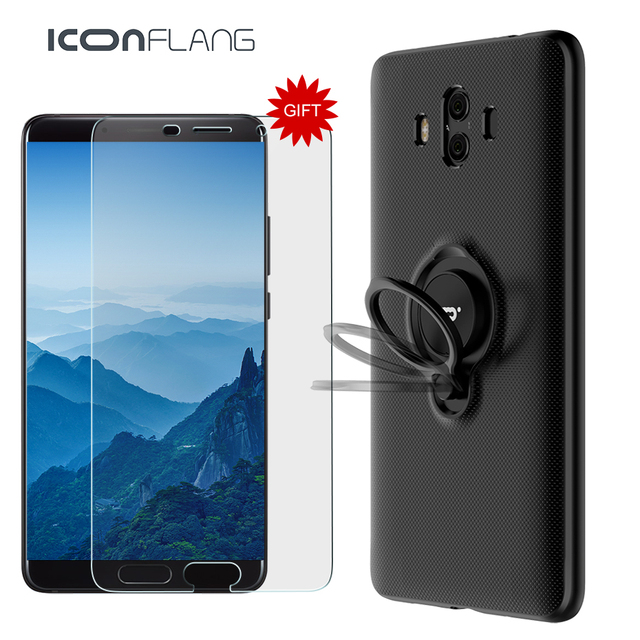 timeless design 723ed 88af7 US $10.27 20% OFF Luxury Shockproof Case On The For Huawei Mate 10 10 Pro  Full Cover For Huawei Mate 10 Magnet Ring Car Holder Case Tempered Glass-in  ...