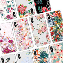 Soft TPU Thin Case for Huawei P8 P9 P10 P20 Lite 2017 Mini Mate 10 Floral Silicon Back Cover For Huawei P20 Pro P Smart Nexus 6p(China)