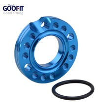 GOOFIT blue 28mm Carburetor Spacer Manifold Adapater IntakeSpinner Plate for 50cc 70cc 90cc 125cc Sunl Taotao NST Roketa ATV M