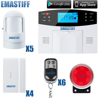 Alta qualità!! Home Wireless GSM Sistema di Allarme di Sicurezza Domestica Sistema di Allarme W/Allarme Sensor Tastiera LCD Spedizione Gratuita