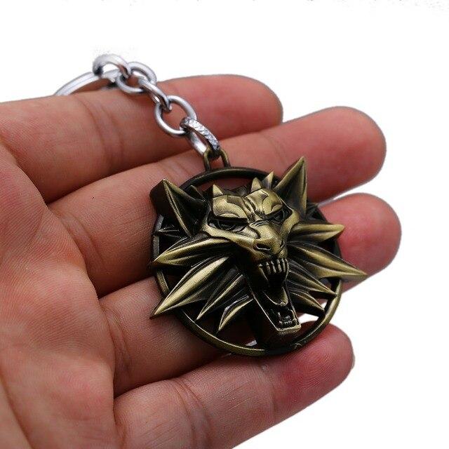 The Witcher 3 Keychain Wild Hunt Wolf Shape Key Ring