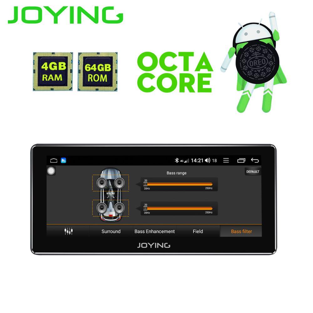 JOYING últimas 8 núcleo apoio carplay Android 8.1 unidade de cabeça autoradio carro GPS 1DIN Player Multimídia HD 8.8 ''Rádio gravador de fita
