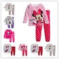 Девушка Babys Пижамы Хлопка девочек Пижамы костюмы детская Одежда Детские Наборы Нижнего Белья детям пижамные комплекты 2-7y