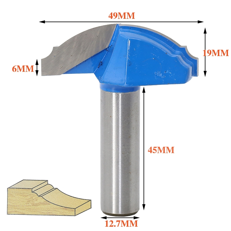 1 pc 1/2 Shank Woodworking Door Frame Router Bits for wood carbide lassical door cabinet bits Engraving Milling Cutter free shipping 10pcs 6x25mm one flute spiral cutter cnc router bits engraving tool bits cutting tools wood router bits